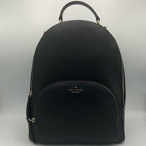 NWT Kate Spade Large Black Leather Backpack